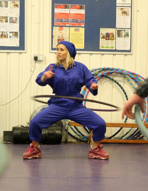 Anna the Hulagan teaching HulaFit