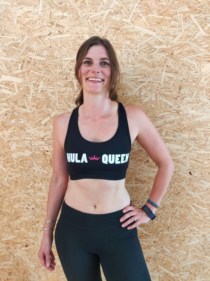Woman models HulaQueen Sports Top